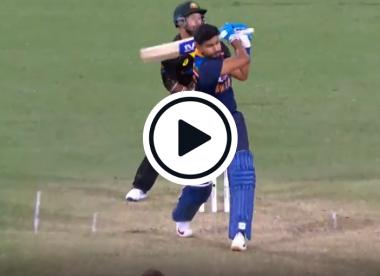 Watch: Shreyas Iyer smashes 111-metre six against Australia