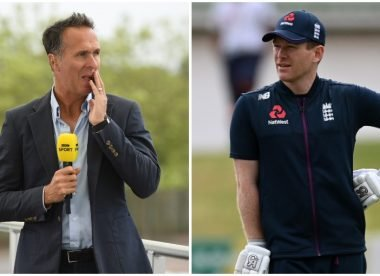 Did Eoin Morgan take a veiled swipe at Michael Vaughan when defending England's dressing room signals?
