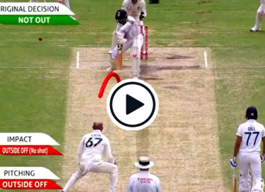 Watch: Pujara survives close DRS call after bat-padding Lyon