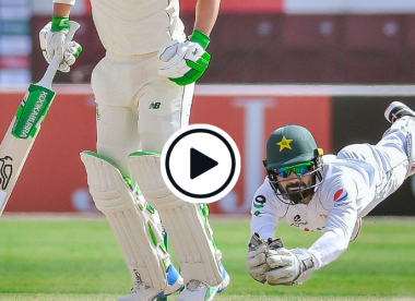 Watch: 'Superman' Mohammad Rizwan takes superb diving catch