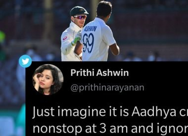 Prithi Ashwin hilariously live-tweets her husband's part in epic Test climax