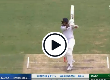 Watch: No.8 Shardul Thakur drills 'Steve Waugh-like' cover drive