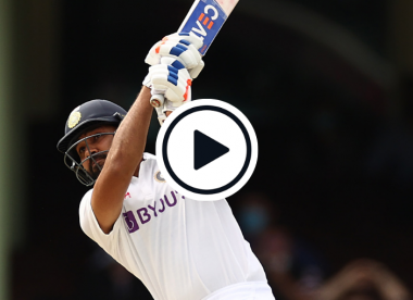 Watch: Rohit Sharma smokes Nathan Lyon for glorious six on Test return