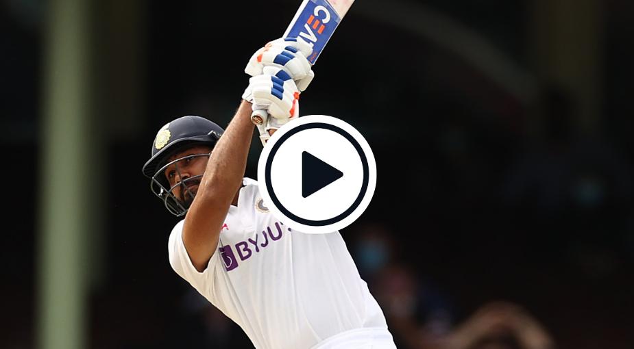 Watch: Rohit Sharma Smokes Nathan Lyon For Glorious Six On Test Return