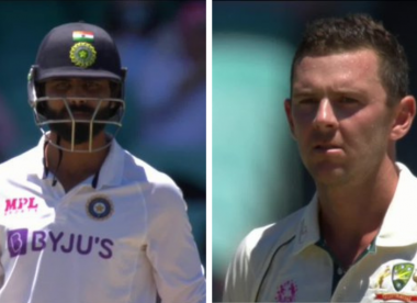 The Jadeja-Hazlewood stare-off that sent fans wild
