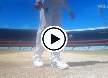Watch: Steve Smith criticised for scuffing crease during drinks break