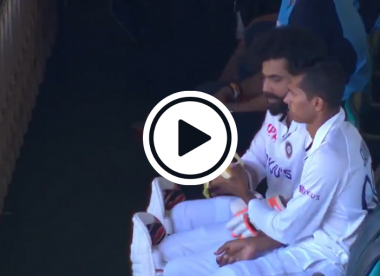 Watch: Navdeep Saini peels banana for injured Ravindra Jadeja