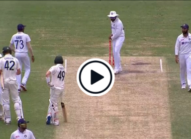 Watch: Rohit Sharma shadow bats at the crease in front of Steve Smith
