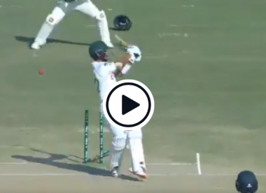 Watch: Kagiso Rabada's 200th Test wicket comes in comical fashion after wild tailender swipe