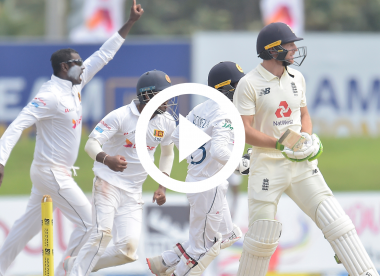 Watch: Jos Buttler dismissed in bizarre fashion as sweep shot ricochets off his boot