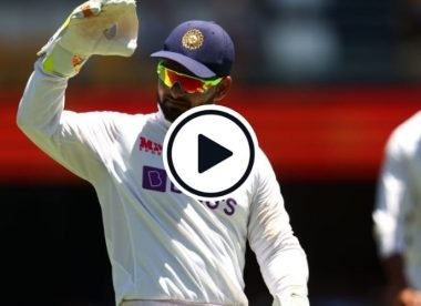 Watch: Rishabh Pant howls weirdly while keeping