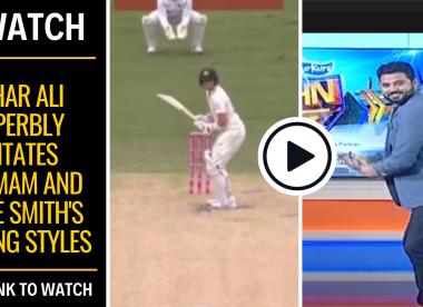 Watch: Azhar Ali superbly imitates Inzamam and Steve Smith's batting styles