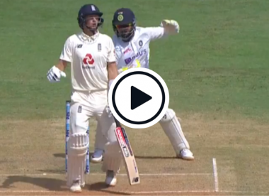 Watch: Pitch starts to show uneven bounce as Sundar strikes Root on glove from full length