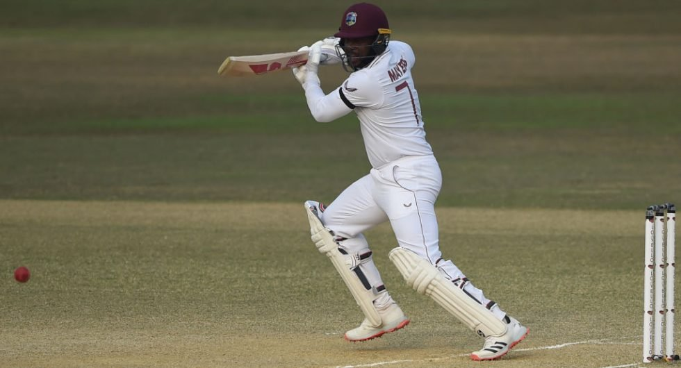 Kyle Mayers with one of the greatest debut Test knocks in a run-chase of 395