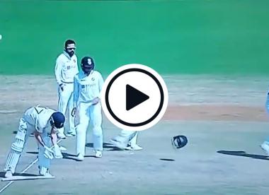 Watch: Virat Kohli strangely throws helmet onto the middle of Chepauk pitch