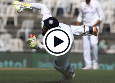 Watch: Rishabh Pant takes a blinder in eerily similar circumstances to first Test drop