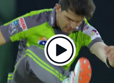 Watch: Shaheen Afridi left dismayed by 'absolute gobbler' of a drop