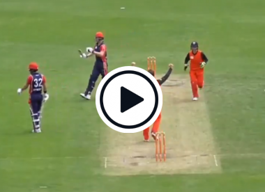 Watch: Tim Paine bowls in club cricket – and takes a wicket
