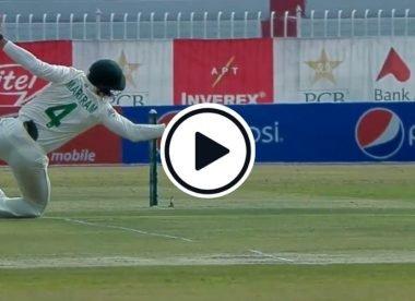 Watch: Aiden Markram takes brilliant reflex catch at short leg