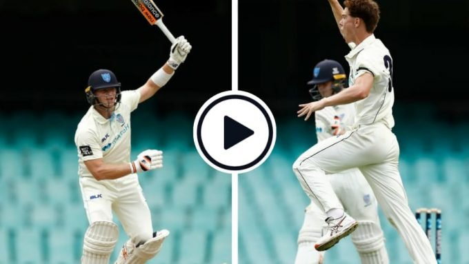 Watch: 20-year-old quick works over Steve Smith in the Sheffield Shield