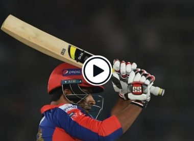 Watch: Sharjeel 'does a Tewatia', makes spectacular recovery after slow start
