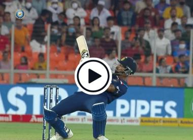 Watch: Hardik Pandya ends up on his back after ridiculous ramp shot
