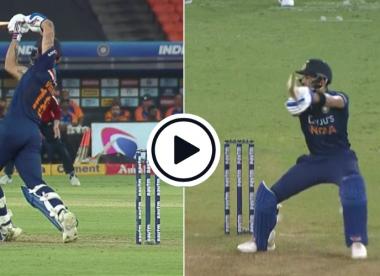 Watch: 6, 6, 4 - Brilliant Virat Kohli slams 94mph Mark Wood