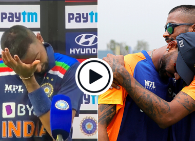 Watch: Krunal Pandya breaks down mid-interview, hugs Hardik in tears