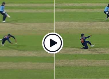 Watch: Dive, pick up, turn, throw – Rohit Sharma's excellent fielding gives India a wicket