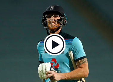 Watch: Ben Stokes says 'sorry' to the heavens after getting out on 99