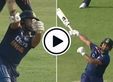 Watch: 'Sheer bat speed' - Rishabh Pant slams outrageous one-handed sixes against England