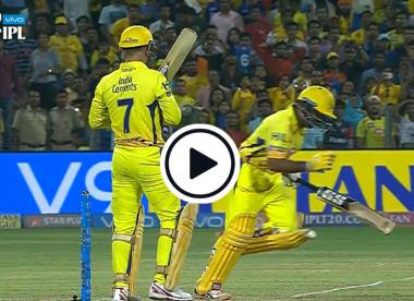 Watch: Comical run out from IPL 2018 - Rayudu runs two, Dhoni zero