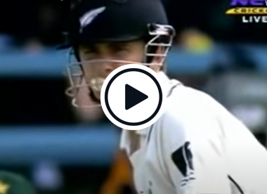 Watch: Kane Williamson blows a bubble as he hits a boundary