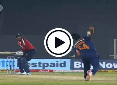 Watch: Shardul Thakur accidentally bowls 'backwards' delivery