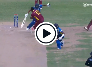 Watch: Sri Lanka batsman controversially given out 'obstructing the field'