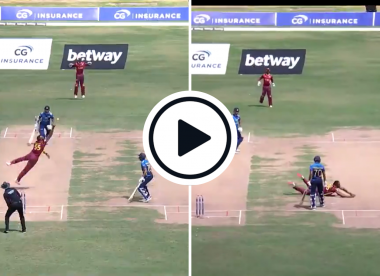Watch: Kieron Pollard takes stunning return catch against Sri Lanka