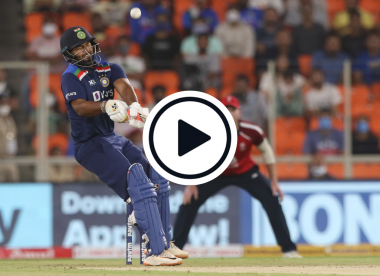 Watch: Rishabh Pant reverse-laps 87mph Jofra Archer for six