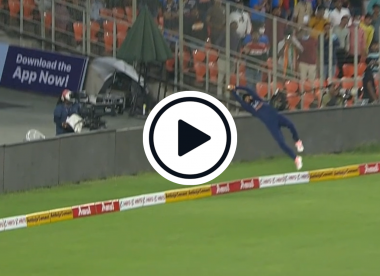 Watch: KL Rahul completes epic fielding effort to prevent six