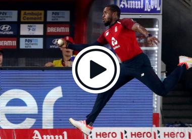Watch: Chris Jordan pulls off extraordinary, nonchalant boundary-relay catch