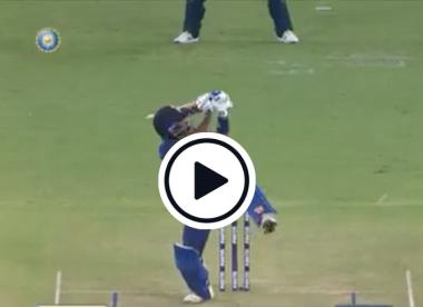 Watch: Suryakumar Yadav hits first ball in international cricket for remarkable six