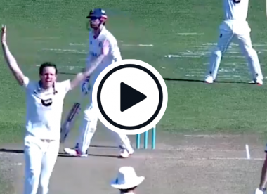 Watch: Alastair Cook walks before being given lbw