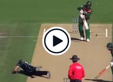 Watch: Jamieson return catch overturned after not being 'fully in control'