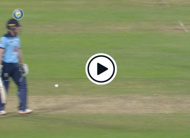 Watch: Morgan almost run out in bizarre circumstances after first-ball Kohli drop