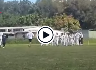 Watch: Punches thrown in Australian suburban game after reported bouncer barrage