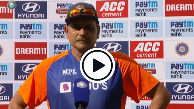 Watch: 14 'bubble's in 40 seconds - Ravi Shastri's bizarre, rambling post-match chat