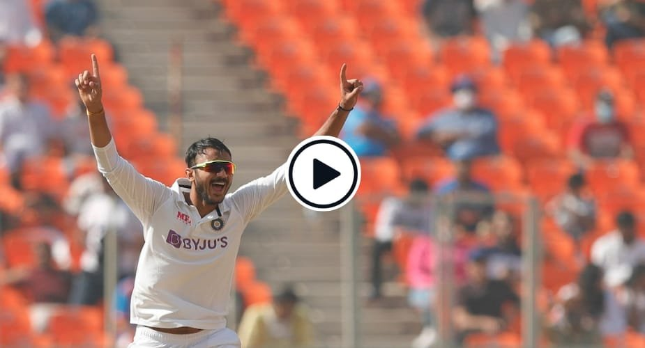 Watch: All Four Of Axar Patel's First-over Wickets Against England