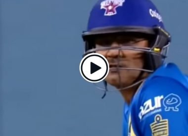 Watch: Virender Sehwag sings a song as he smashes a six