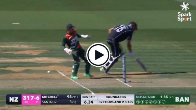 Watch: Last-ball wicketkeeper fumble gifts New Zealand batsman maiden ODI hundred