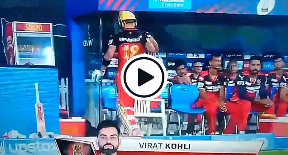 Watch: Furious Virat Kohli Knocks Down A Chair After Getting Out In IPL 2021