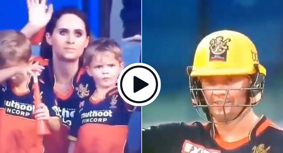Watch: Cute IPL Moment Captures AB De Villiers Waving Back To His Kids Mid-Game